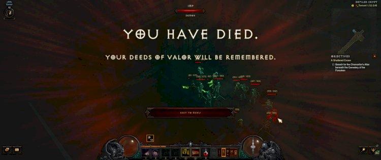 Diablo III Hardcore kihívás