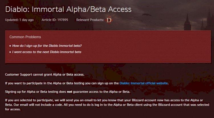 Frissítették a Diablo IV Beta hozzáférés oldalát
